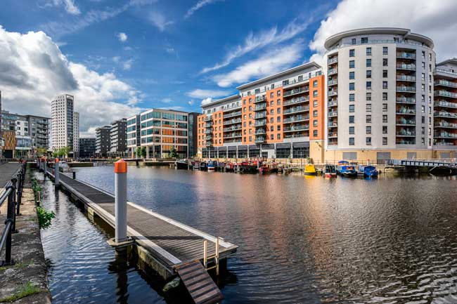 Taking a walk by the Leeds dock will refresh you!