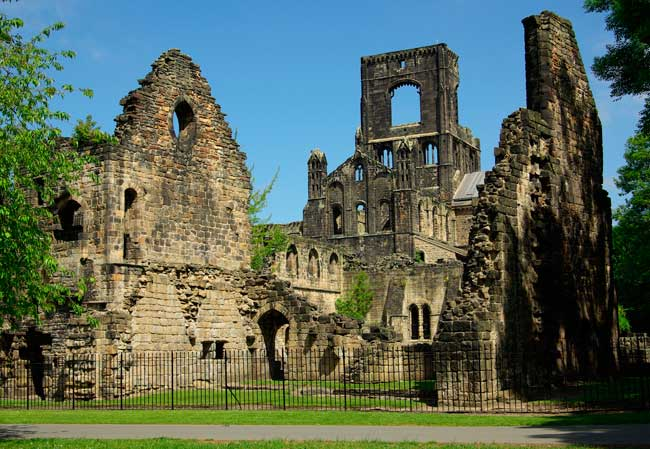 The Kirkstall Abbey remnants are one of the most visited places within Leeds.